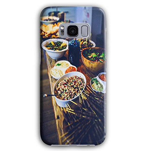 Table Photo Dinner Food Food Desk Picture 3D Samsung Galaxy S8 Plus Case | Wellcoda