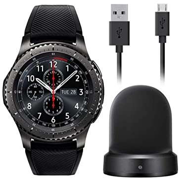 Samsung Gear S3 Frontier Smartwatch 46mm AT&T 4G LTE Dark Grey SM-R765A  (Certified Refurbished) (Large)   Compare Prices, Set Price Alerts, and  Save