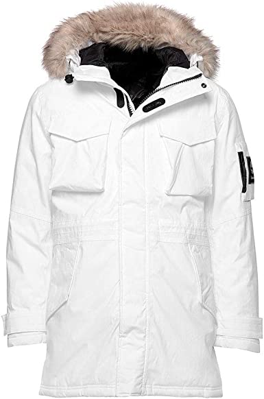 Desnudo diámetro Escándalo  Timberland Men's Nordic Edge Expedition Waterproof Parka (White, XX-Large):  Amazon.co.uk: Clothing