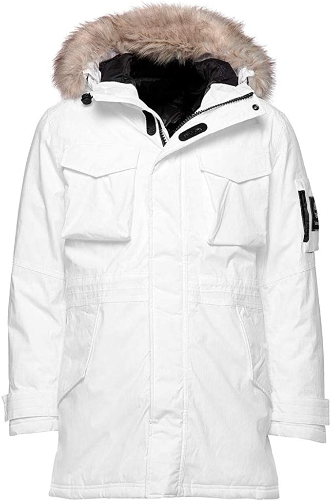 color agradable Industrial  Timberland Men's Nordic Edge Expedition Waterproof Parka (White, XX-Large):  Amazon.co.uk: Clothing