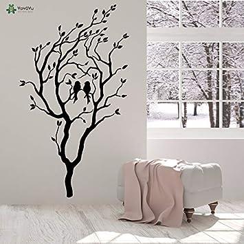 Vinilo Tatuajes de pared Dos pájaros enamorados en el árbol ...
