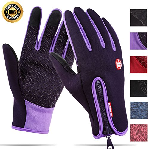 Touchscreen Gloves for Men Women Winter Cycling Waterproof Warm Outdoor Driving Anti-slip Sports Gloves (Motorcycle Girl Bike)