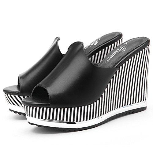 XTIAN - Sandalias de vestir de Material Sintético para mujer negro