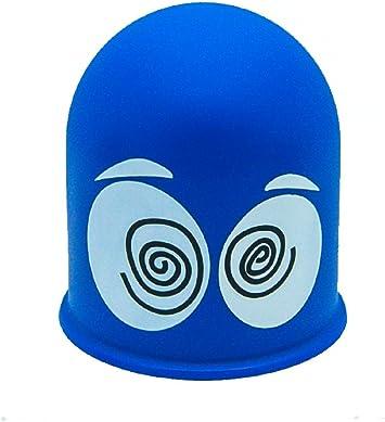 Dizzy Eyes Schutzkappe Anh/ängerkupplung Abdeckkappe Cap Geschenk Schwindlige Augen Blau