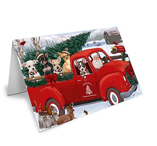 Christmas Santa Express Delivery Chihuahuas Dog Family Greeting Card GCD68912 (10)
