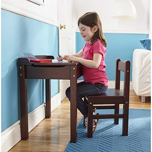 """Melissa & Doug Child's Lift-Top Desk & Chair, Kids Furniture, Espresso, 2 Pieces, 16.1"""" H x 23.6"""" W x 23.2"""" L"""