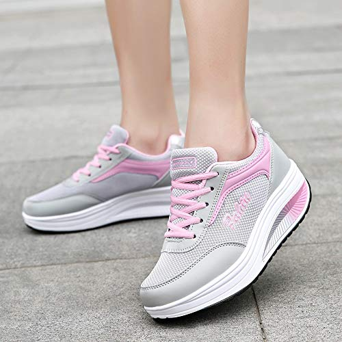 Chaussures Trail Plateforme Running Gym Compétition Respirants Outdoor Casual Course Sports Fitness Entraînement Fille Sneakers Solike Rose Femme Advtwq00