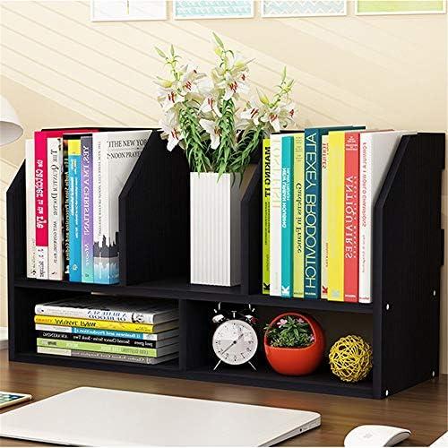 Zhengowen Bücherregal Desktop Desktop Organizer Büro Storage Rack Schreibtisch-Organisator-Buch Lagerung Anzeigen-Regal-Rack for Office Home Anzeigen-Regal-Rack (Farbe : Braun, Size : 60x20x34cm)