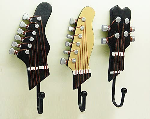 rcdxing 3pcs guitarra percha toallero de gancho perchero de pared ...