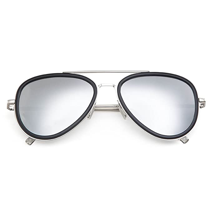 Amazon.com: MT mit Aviator – Marco doble de espejo lente ...