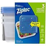 Ziploc Container, Medium Square - 40 oz - 3 ct