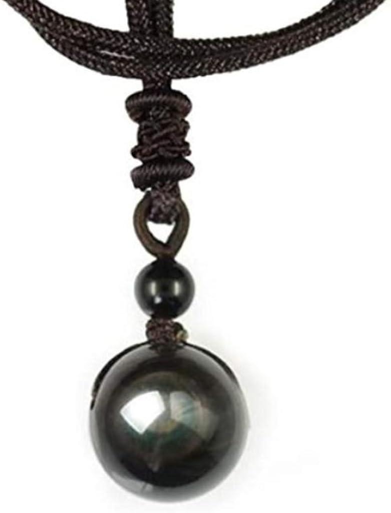 Collar con colgante de obsidiana ojo celeste, ideal como regalo para el Día de la Madre