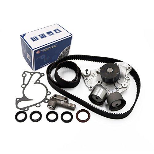Timing Belt Kit Water Pump w/Gaskets Tensioner for 1999-2010 Hyundai Sonata Santa Fe Tiburon Tucson Kia Optima Sportage 3.5L 4.0L V6 DOHC 24V ()