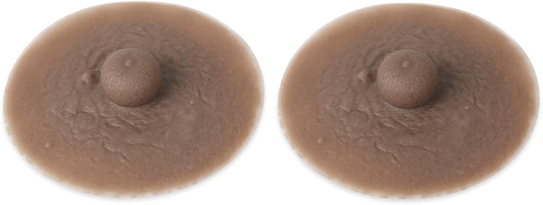 Vollence Pezones de Silicona Adhesivos Pez/ón conectable Reutilizable para Formas de Seno de Silicona Crossdresser CD Fiesta de Disfraces Drag Queen
