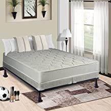 Spring Solution Mattress, 9-Inch Fully Assembled Orthopedic Back Support Queen Mattress and 4-inch Split Box Spring With Bed Frame,Hollywood Collection