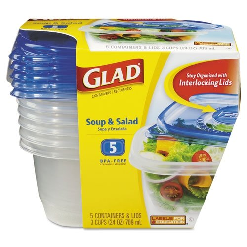 Freeze Easy Tomato & Okra Soup in Glad GladWare Soup and Salad Food Container with Lid