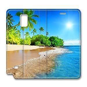 Fantasy Design Samsung Note 4 Leather Case Beautiful Beach