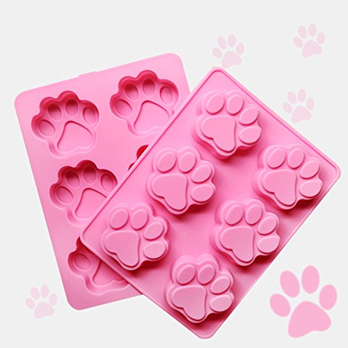 FantasyDay Premium Pet Paw Dog Paw Cat Paw Cake Mold Silicone Baking Molds for Your Dog Soap, Cookie, Donut, Bread, Loaf, Muffin, Brownie, Cornbread, Cheesecake, Pudding nd More -