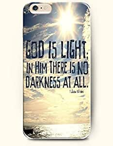 iPhone Case, SevenArc Case Cover For SamSung Galaxy S4 Hard Case **NEW** Case with the Design of god is light in him there is no darkness...