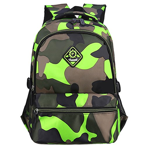Macbag School Backpack Casual Daypack Travel Outdoor Camouflage Backpack for Boys and Girls (Camouflage Green 3)