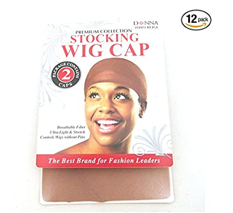 Donna Stocking Wig Cap Beige 12 pack (Ships from US) - Bwh Light Control