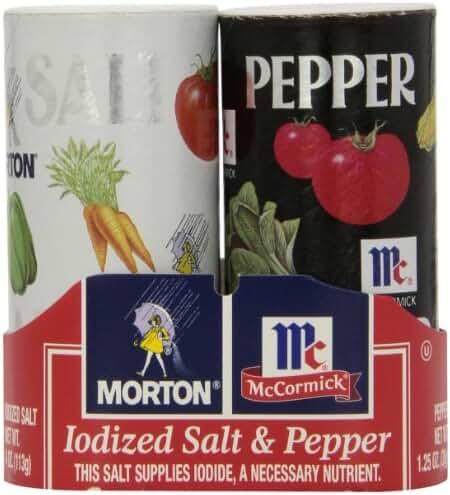 Morton's Salt 4oz/McCormick Pepper 1.25oz Double Pack, 5.25 Oz
