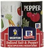 Morton's Salt 4oz/McCormick Pepper 1.25oz Double Pack, 5.25 Oz