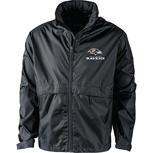 NFL Baltimore Ravens Men's Sportsman Waterproof Windbreaker Jacket, Black, -