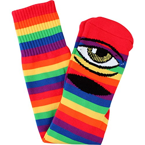 Toy Machine Skateboards Sect Rainbow Knee High Socks - One size fits most by Toy Machine Skateboards