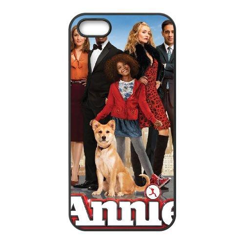 Annie coque iPhone 4 4S cellulaire cas coque de téléphone cas téléphone cellulaire noir couvercle EEEXLKNBC23048