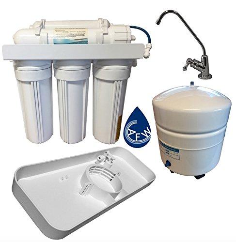 AFW - Sistema de filtro de agua de ósmosis inversa de 5 etapas con detector de fugas FREE y selecciona el estilo del grifo: Amazon.es: Bricolaje y ...