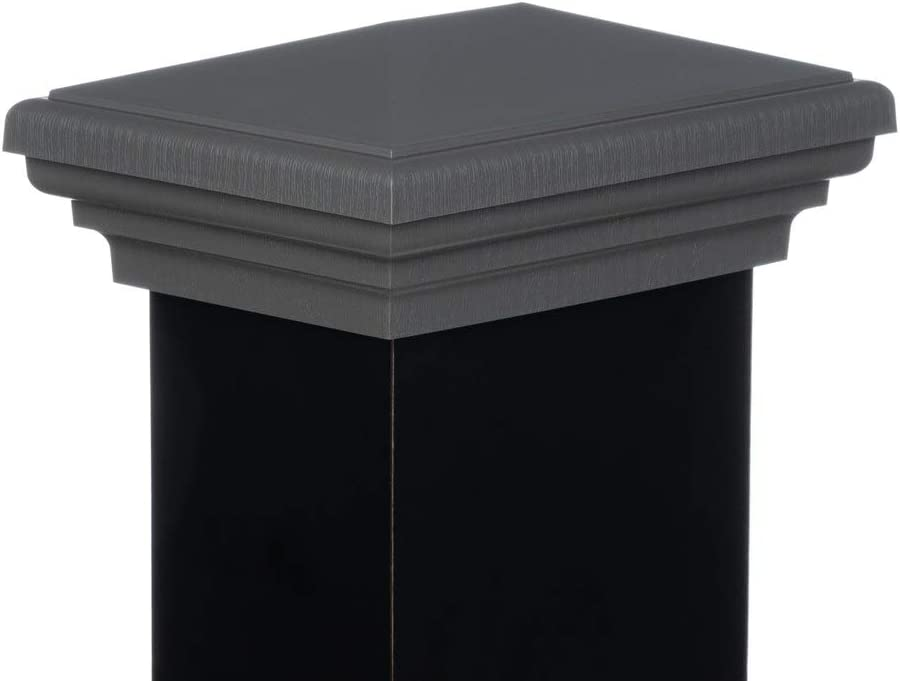 4x6 Post Cap │ Gray Mined Coal New England Newell Pyramid Square Top for Outdoor Fences by Atlanta Post Caps Mailboxes /& Decks
