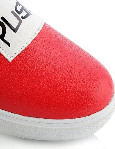 Black Eu43 us11 Semicuero Punta Uk9 Mujer Blanco Redonda Zapatos De Exterior Gyht Casual Red Plataforma Cn44 us11 Zq Mocasines Rojo Vestido Negro Creepers UxC1BAqppw