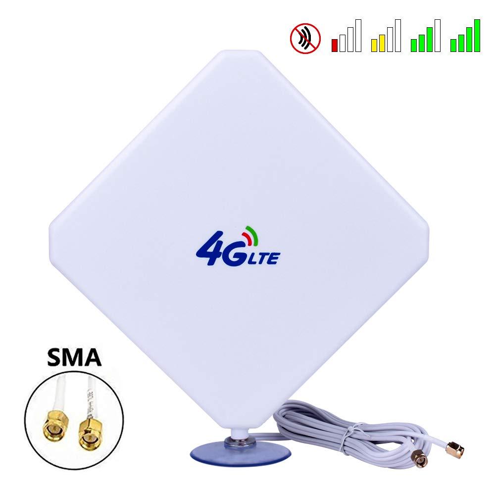 Aigital SMA 4G-Antena, 4G LTE Antena Dual Mimo 35dBi Alto ...