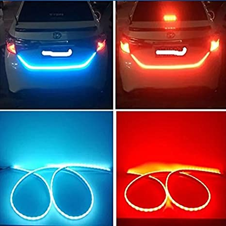 Amazon maaryee car trunk led flowing tail lights 120cm auto car maaryee car trunk led flowing tail lights 120cm auto car dual color tailgate turning signal light aloadofball Image collections