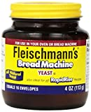 Best Yeasts - Fleischmann's Yeast for Bread Machines, 4-ounce Jars Review