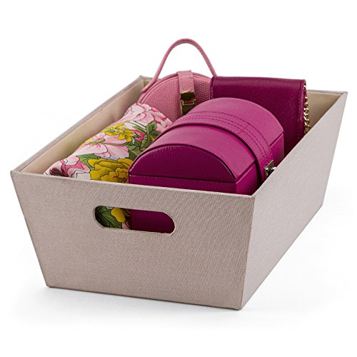 Fabric Household Storage Bin with Handle- Moisture Proof Closet Organizer Basket- Heavy Duty Shelves/ Under the bed Container- Best Clothes/ Craft/ Toy/ Document Organization Box
