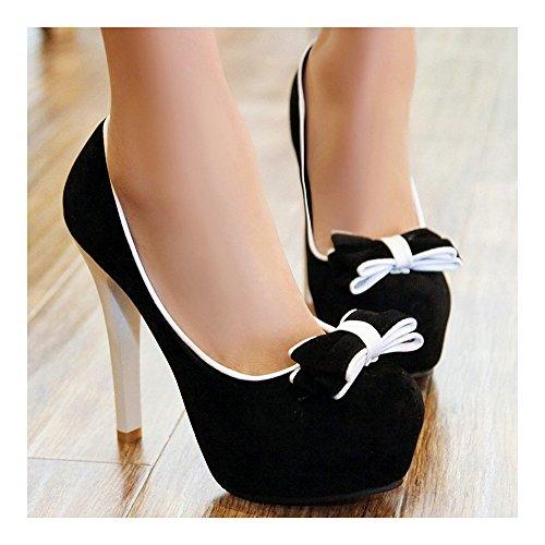 cut white High Women 38 Low Shoes Super Round Shoes Thin Fluff Heel 10xxaw6Oq
