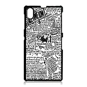 Music Rock Band ATL Cover Shell Retro Funny Doodles Style All Time Low Phone Case Cover for Sony Xperia Z1