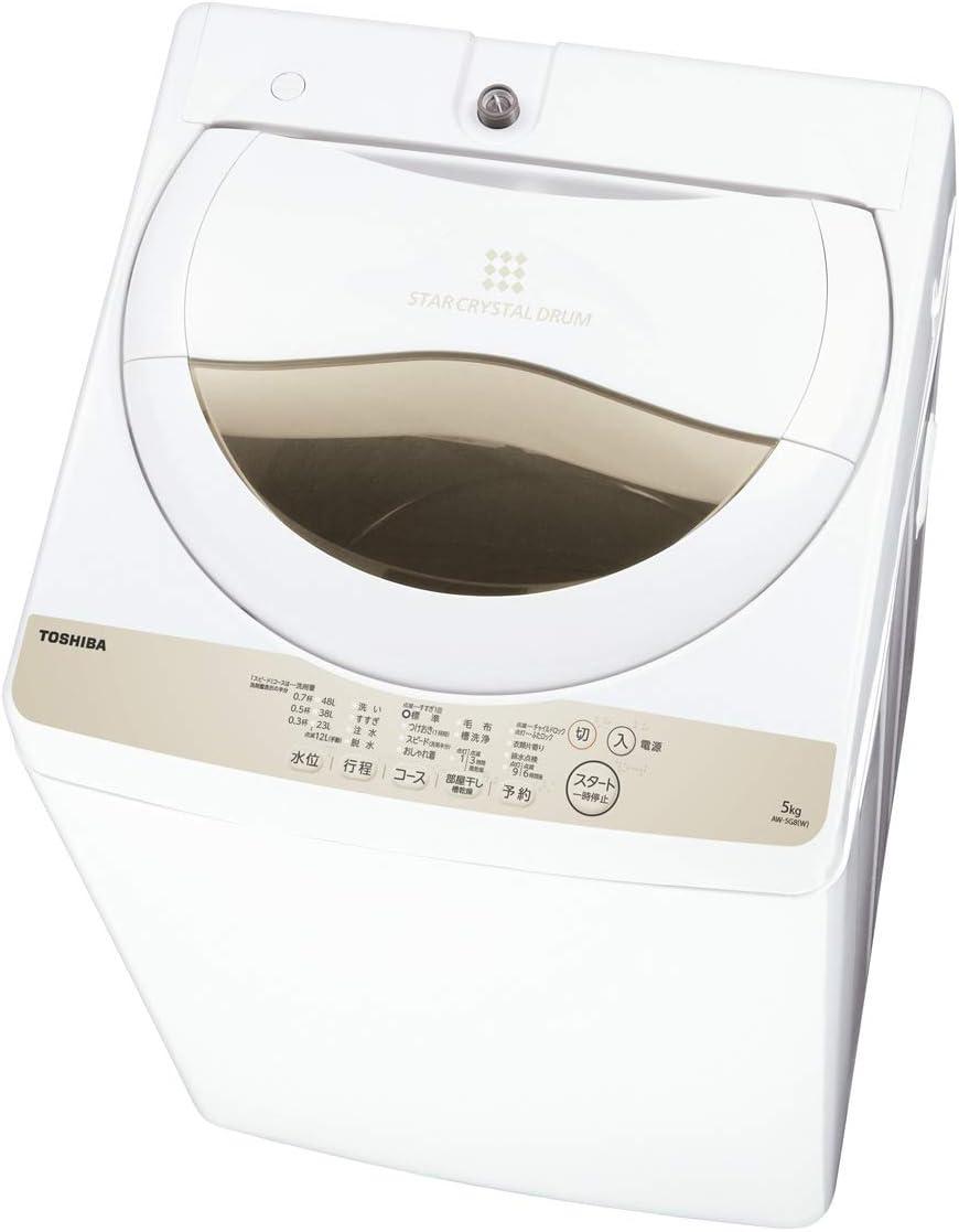 東芝 5.0kg 全自動洗濯機 AW-5G8