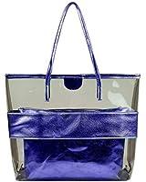 Micom Summer Clear Handbags Large Work Tote Purse Transparent Beach Bag