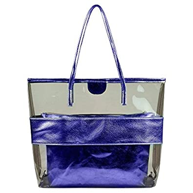 Summer Clear Handbags Large Work Tote Purse Transparent Beach Bag ...