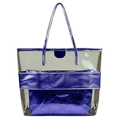 Summer Clear Handbags Large Work Tote Purse Transparent Beach Bag ...