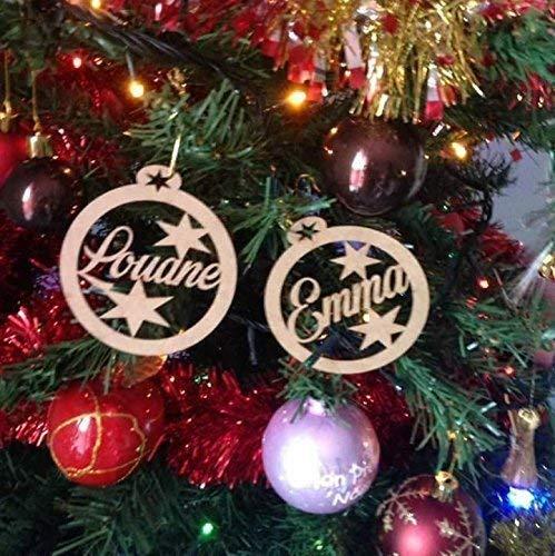 Décorations De Noël Sapin de Noël Bijoux Décoration PERSONNALISE bois deco