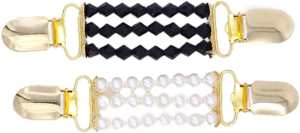 TENDYCOCO su/éter Clip Broche Chal Clip Vintage Broche Clip Cardigan Clips para Mujeres 2 Piezas