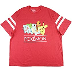 Pokemon Men's Big & Tall T-Shirt in Heather Red. XLT-4XLT.