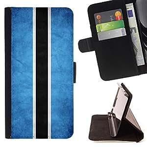 KingStore / Leather Etui en cuir / Apple Iphone 5C / Nacional bandera de la nación País Botswana