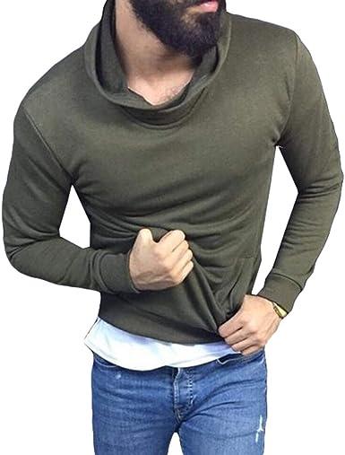 Camisa De Cuello Alto con Cuello Alto para Hombres Camisa De Manga Larga con Cuello Alto Y Blusa Ajustada M-3XL: Amazon.es: Ropa y accesorios