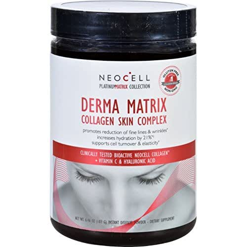 NeoCell Laboratories Collagen Skin Complex - Derma Matrix - Platinum Matrix - Instantly Dissolving - 183 Grams Powder