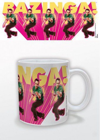 Posters  The Big Bang Theory Poster Photo Coffee Mug   Sheldon  Bazinga  Pink  4 X 3 Inches